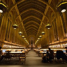 Suzzallo Library at University of Washington, Seattle in Seattle, Washington, USA