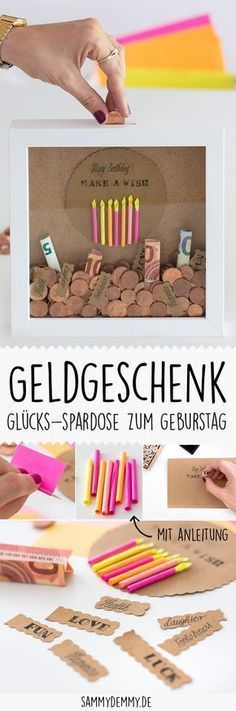 DIY Gift Idea: Money gift for wedding and birthday - Money Hacks Birthday Money Gifts, Birthday Rewards, Birthday Gift For Him, Birthday Diy, Birthday Presents, Happy Birthday, Diy Gifts For Friends, Gifts For Teens, Best Friend Gifts