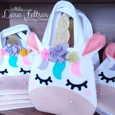 Sewing For Kids, Baby Sewing, Diy For Kids, Crafts For Kids, Unicorn Party, Unicorn Birthday, Felt Crafts, Diy And Crafts, Sewing Stitches By Hand