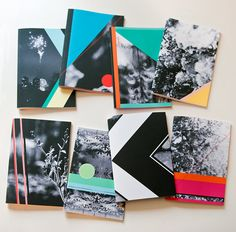 geometric notebooks by RibbonSquirrel on etsy