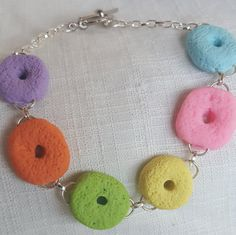 A personal favorite from my Etsy shop https://www.etsy.com/listing/481706315/fruit-loop-bracelet