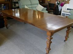Solid Oak Extendable Dining Table, Local Delivery Service Available measures at its largest H75cm, W238cm, D122cm, £295 - Some light marks & scratches but overall in good condition, (PC854) 5000 sq ft showroom OPEN 7 days a week,