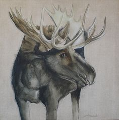 Eye Contact, How Souls Catch on Fire Wildlife Paintings, Nautical Art, Moose Art, Birds, Watercolor, Eyes, Animals, Animales, Watercolour
