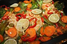Thai kyllingpanne med Chili og peanøtter