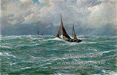Nordsee-Schnars-Alquist-Segelschiffe-Kutter-stuermische-See-Maritim-A3-106