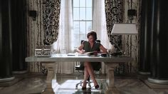 Awesome Regina (Lana) working at her desk in her awesome Mayor's Office Once S2