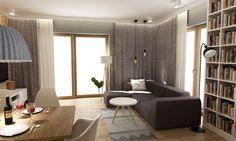 Aranżacje wnętrz - Salon: Dom Brwinów 200 m2 - Średni salon z bibiloteczką z jadalnią, styl nowoczesny - Grafika i Projekt architektura wnętrz. Przeglądaj, dodawaj i zapisuj najlepsze zdjęcia, pomysły i inspiracje designerskie. W bazie mamy już prawie milion fotografii! Conference Room, Divider, Table, House, Furniture, Interiors, Home Decor, Living Room, Homemade Home Decor