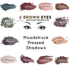 The Best Shades Of Youniques Moodstruck Pressed Shadows To Go With Brown Eyes