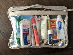 For the prepared mom, creating a simple toss-and-go kit of travel size items can be a life saver. See what's in my essential kit for every mom's purse here:
