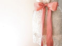 coral silk dupioni sash belt. $69.00, via Etsy.