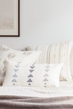 Neutrals are proven to have a calming effect. Add coziness with a set of throw pillows! #bedroomneutrals #throwpillows #neutracolorpalette Black And Cream Bedroom, Cream Bedrooms, Green Throw Pillows, Chevron Throw Pillows, Shades Of Beige, Comfy Bed, Getting Out Of Bed, One Bedroom, Pillow Design