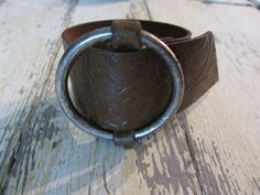 The Danya Bracelet...  made from an old belt.  Recycled and that makes me happy... xo