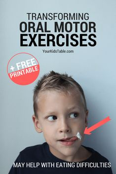 The Most Powerful Oral Motor Exercises for Toddlers and Kids Oral Motor Activities, Speech Therapy Activities, Language Activities, Sensory Activities, Articulation Activities, Play Therapy, Toddler Speech Activities, Therapy Worksheets, Sensory Diet