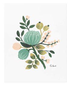 * Blue botanical print