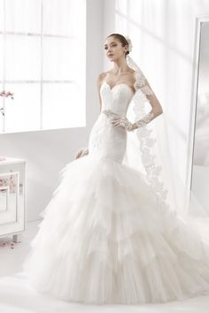 ruffles, tulle, fit and flare  www.labelleelaines.com