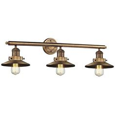 Bronze Bathroom Lighting Fixtures - Page 7 Bathroom Wall Lights, Bathroom Light Fixtures, Bathroom Lighting, Bronze Bathroom, Overhead Lighting, Bath Light, Fashion Lighting, Vanity Lighting, Bulb