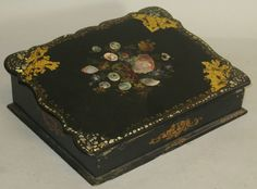 Antique Victorian French Papier Mache Writing Lap Desk C 1880 | eBay