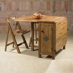 Cordoba Drop Leaf Dining Table 4 Folding Chairs Using Fold Down