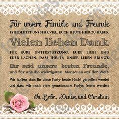 Gastgeschenke - Dankeskarte für die Festtafel - ein Designerstück von foryoudesign bei DaWanda