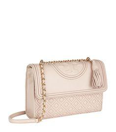 Tory Burch Fleming Medium Convertible Shoulder Bag Bedrock Pink| Harrods