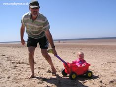 Tips, activities and ideas for taking toddlers to the beach, having fun and keeping safe
