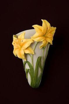 Daylily Wall Vase