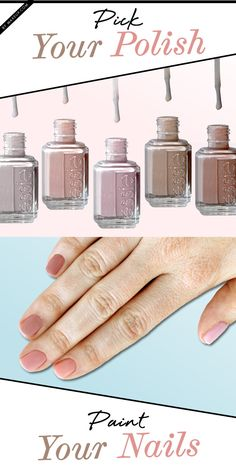 Neutral gradient nails are one of those timeless manicures that are great all year around! For this tutorial you'll need: 5 neutral nail polishes with the same sheen. We used Essie colors: Adore-A-Ball, Sandy Beach, Topless & Barefoot, Sand Tropez and Jazz. Learning how to do this cute mani is easy!