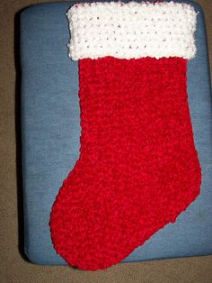 Quick and easy crochet stocking.