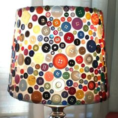 buttons buttons buttons! Cute lamp for sewing room
