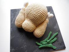 teensy roast chicken a la crochet
