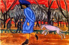 Ольга Розанова «Бульвар» 1911 г. Холст, масло 36,5 х 56,5 см  Самарский областной художественный музей, Самара, Россия
