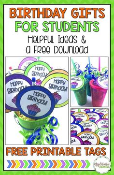 Creating student birthday gifts can be a challenge, but it doesn't have to be! Make each of your students feel special with this FREE download. Simply prep and give them away. Teachers at ALL grade levels will love this freebie and the ideas presented. Gr