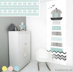 Zelfklevend muurdecoratie sticker paneel: vuurtoren