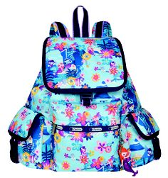 LeSportsac x Disney: Voyager Backpack with charm in Tahitian Dreams #LeSportsac