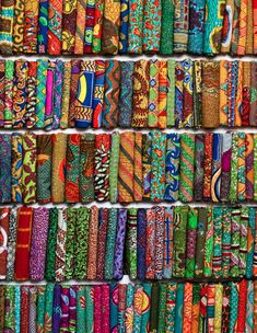 African wax prints - amazing colors.