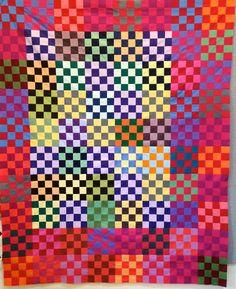 arrangement of the quilt blocks