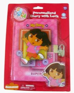 Dora The Explorer Diary - Dora personalized Diary w/ Lock by Viacom