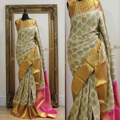 """360 Likes, 16 Comments - Casipillai Designer Collection (@casipillaidesignercollection) on Instagram: """"Designer Kanchipuram Saree on sale for Deepavali sale - please message on fan page for more…"""""""