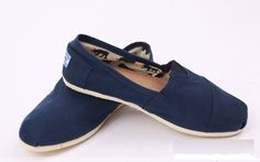 Toms Classic Shoes Canvas Men Blue - It's pretty cool (: / Toms Shoes OUTLET...$26.99! Same company, lots of sizes! Must remember this!