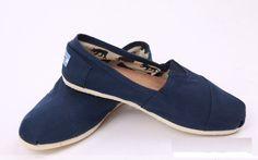 Toms Classic Shoes Canvas Women Blue
