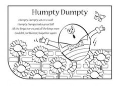 Nursery rhymes are a great way to introduce your child to rhythm, music and early literacy and numeracy skills. Print this nursery rhyme lyric sheet, so your child can have fun singing along to Humpty Dumpty!