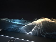 montreal based digital artist mathieu le sourd AKA maotik has designed an immersive, interactive installation of real time data inspired by the ocean waves.