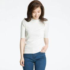 9807f996 Uniqlo, Half Sleeves, Chefs, Turtle Neck, Colors, Autumn Fashion, T