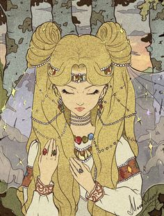 """tsarevnna:  """" Princess Serenity reimagined in Russian folklore style, by MoonSelena  """""""