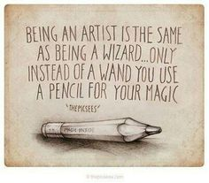 "Using words is the same as being a wizard. I think ""magic"" is no exaggeration for the energies in words! The Words, Art Room Posters, Artist Quotes, Quotes For Artists, Creativity Quotes, Wow Art, Quote Art, Artist Life, Art Classroom"
