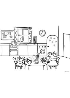 Peppa Pig Free Coloring Pages House from Peppa Pig Coloring Pages. There are really a lot of choices of films and shows for kids. From educative to consumptive teaching ,and from catchy and positive animated series, . Quote Coloring Pages, Free Coloring Pages, Coloring Books, Peppa Pig House, Peppa Pig Family, Peppa Pig Coloring Pages, Cartoon Coloring Pages, Pippa Pig, Peppa Pig Imagenes
