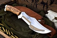 CFK USA Ipak Survival Custom Handmade D2 Longhorn Tracker Bushcraft EDC Knife 16 | eBay