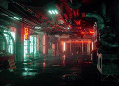 Running In The Night: The Superb Cyberpunk Artworks By Daniele Gasparini Cyberpunk City, Cyberpunk Aesthetic, Neon Aesthetic, Night Aesthetic, Neon Noir, The Embrace, Night City, Wattpad Background, Imagines