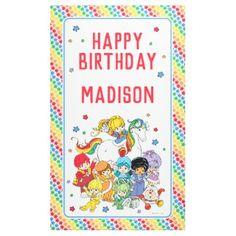 Shop Rainbow Brite and Friends Birthday Banner created by hallmarkrainbowbrite. Birthday Party Design, Birthday Party Invitations, Birthday Party Themes, Invites, Birthday Star, Friend Birthday, Personalized Thank You Cards, Retro Kids, Rainbow Brite
