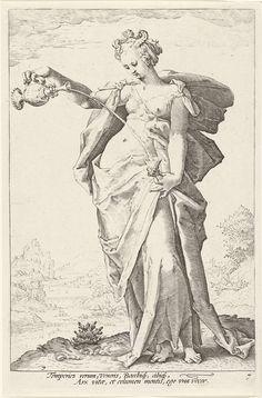 Matigheid (Temperantia), Hendrick Goltzius, Claes Jansz. Visscher (II), 1585 - 1589